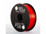 PLA Červená transparentní 1,75 mm - 1 kg 3DFIL