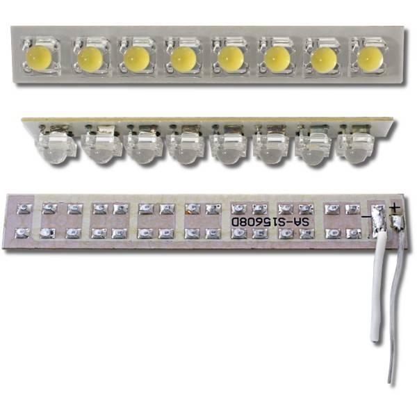 Výkonný LED panel 8x, 24V, teplá bílá