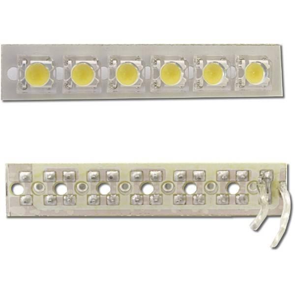 Výkonný LED panel 6x, 18V, teplá bílá