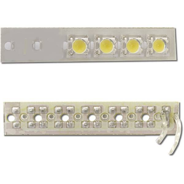 Výkonný LED panel 4x, 12V, teplá bílá