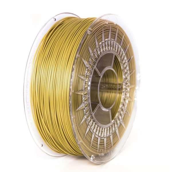 Filament DEVIL DESIGN / PLA / GOLD / 1,75 mm / 1 kg. DEVILDESIGN