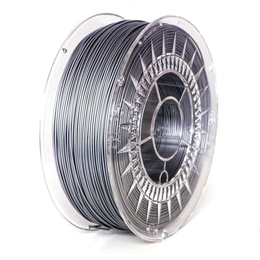 Filament DEVIL DESIGN / PLA / SILVER / 1,75 mm / 1 kg. DEVILDESIGN