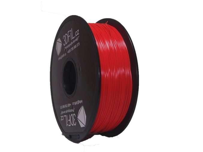 PLA Červená 1,75 mm - 1 kg 3DFIL