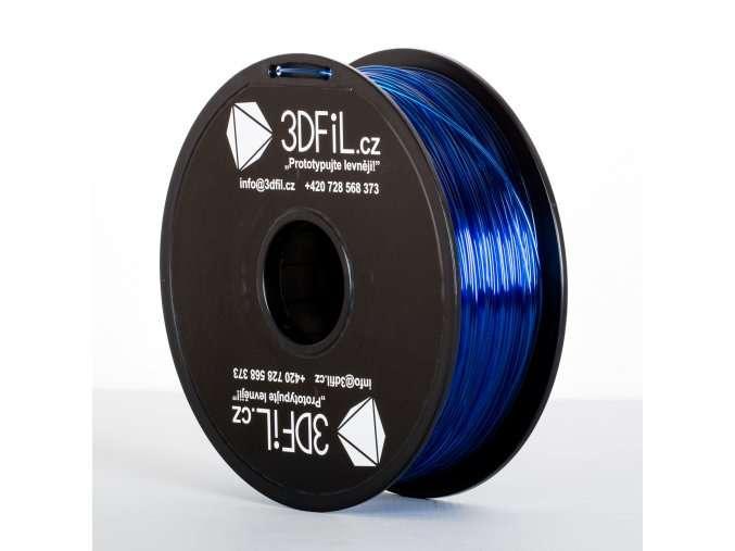 PLA Modrá transparentní - 1,75 mm - 1 kg 3DFIL