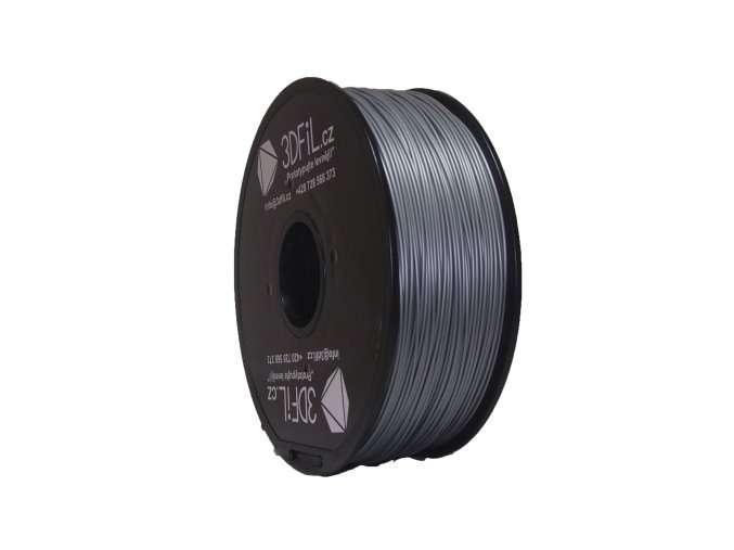PLA stříbrná - 1,75 mm - 1 kg 3DFIL
