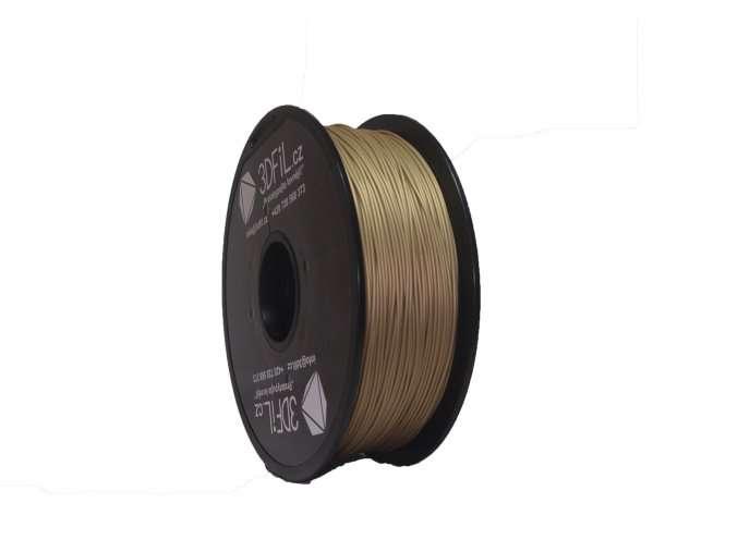 PLA zlatá - 1,75 mm - 1 kg 3DFIL