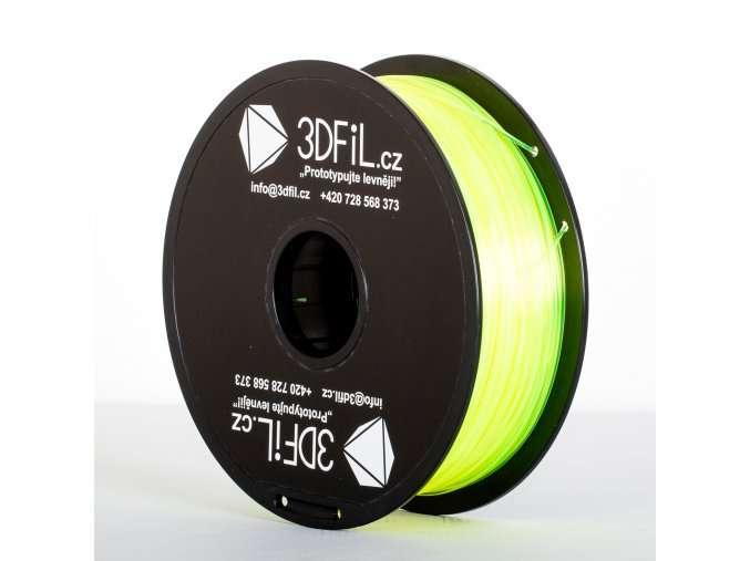 PLA Žlutá transparentní 1,75 mm - 1 kg 3DFIL