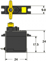 Servo Dymond D60 (Slim Servo1816)