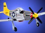 RC letadlo Mustang P-51D,35Mhz,Mode2, 4ch, ART-TECH, + PC simulátor, STŘÍDAVÝ MOTOR