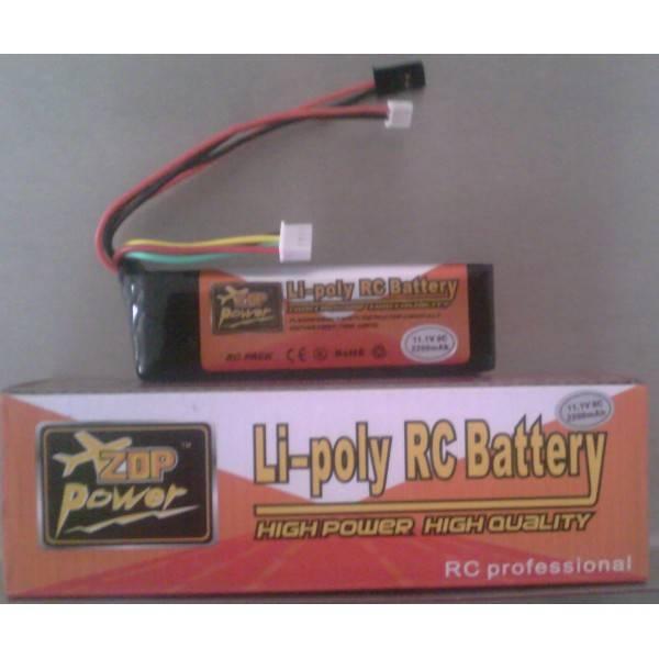 Vysílačová LiPol baterie 11,1V 2100mAh 5C